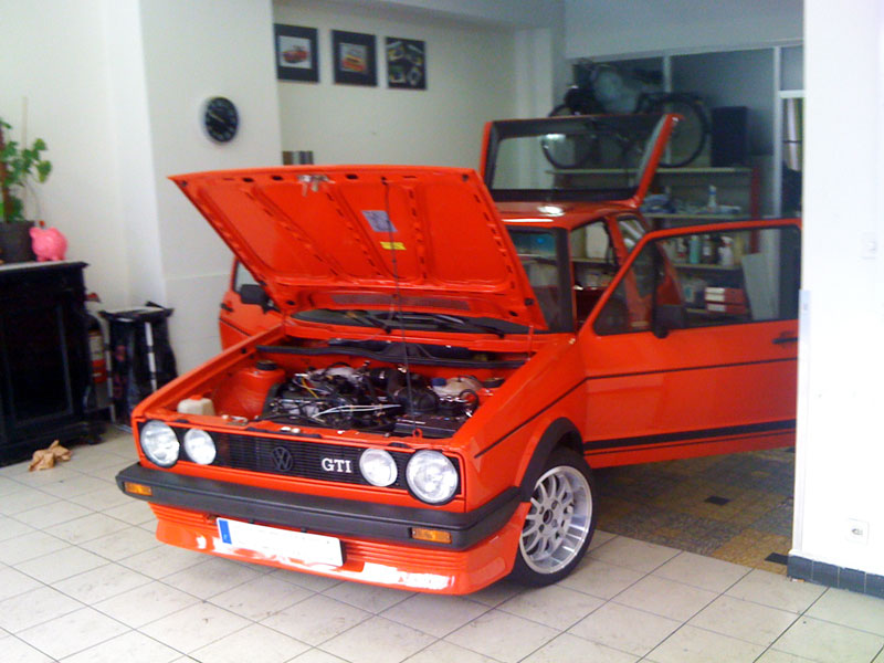 Youngtimers view topic golf 1 restauration int grale for Interieur golf 2 gti