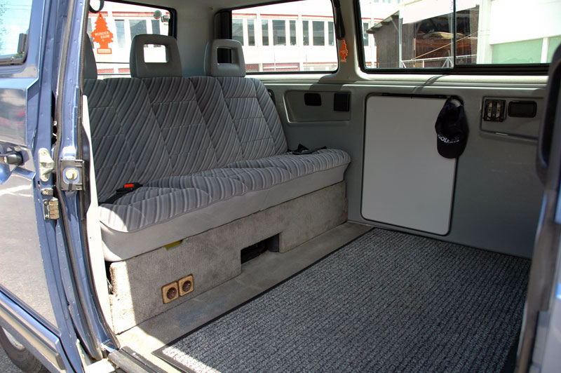 La particularit du multivan est son agencement int rieur for Interieur westfalia t3